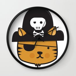 Pirate Cat: Jumpy Icon Wall Clock