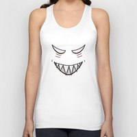 evil Tank Tops featuring Evil Grin Evil Eyes by Boriana Giormova
