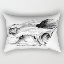 Snapping Turtle Skull Rectangular Pillow