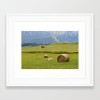 montana Framed Art Prints featuring Montana by Claudia Martin