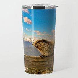 Hoary marmot in Vancouver Travel Mug