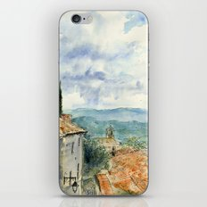 A View of Lacoste, France iPhone & iPod Skin