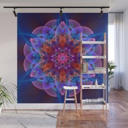 The power of one Flower Wall Mural