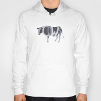cows Hoodies featuring Cows Typography by Megan Yiu