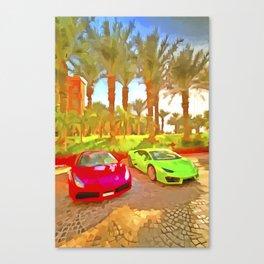 Dubai Super Cars Pop Art Canvas Print
