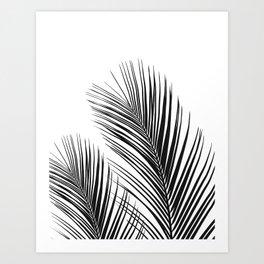 Tropical Palm Leaves #1 #botanical #decor #art #society6 Art Print