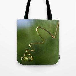 Spring Shaped Passion Flower Tendril  Tote Bag