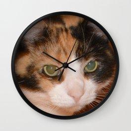 Cat Eyes, Green Eyes, Bedroom Eyes Wall Clock