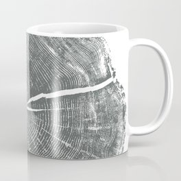 Locust Tree ring image, woodcut print Coffee Mug