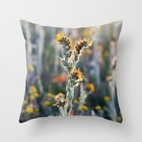 zelda Throw Pillows featuring Zelda by Miss York Photography