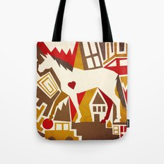 Abstract Pattern Unicorn Tote Bag
