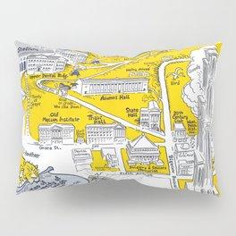 PITTSBURGH University map PENNSYLVANIA  dorm decor Pillow Sham