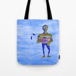 Orange guy diving in watercolor Tote Bag