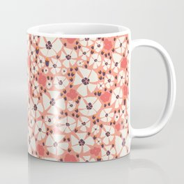 A Peony shower in coral Coffee Mug