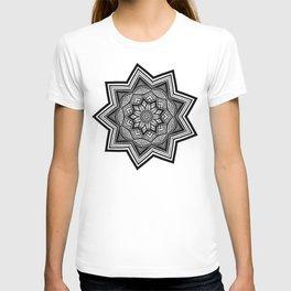 Nature and Pointillism Mandala T-shirt