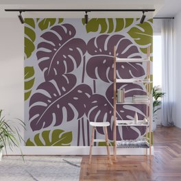 PLANTS - philodendron#3_Purple Wall Mural