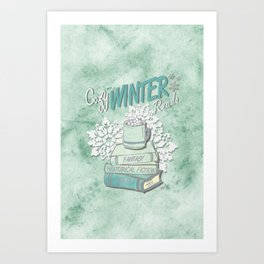 Cozy Winter Reads Art Print