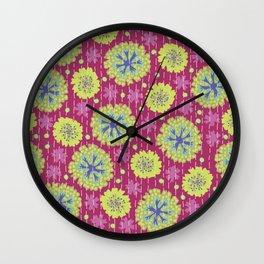 Kantha floral 6 Wall Clock