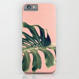 Monstera Blush iPhone Case