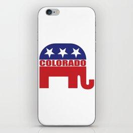 Colorado Republican Elephant iPhone Skin