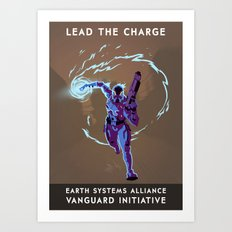 Mass Effect 3- Vanguard Propaganda Art Print