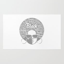 Awesome Natural Hair Strong Proud Women Illustration Rug