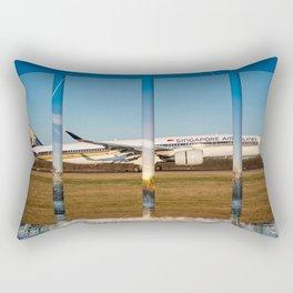 Airbus A350 Landing Manchester Rectangular Pillow