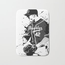 Brooklyn 42 baseball man Bath Mat
