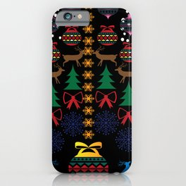 Colorful Christmas pattern design to celebrate the xmas season  iPhone Case