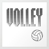 volleyball Art Prints featuring Volleyball by raineon
