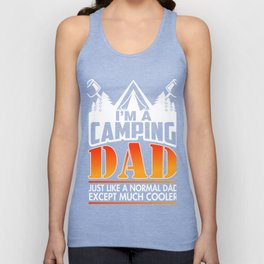 Cool Camping Dad T-Shirt. Gift Ideas Unisex Tank Top