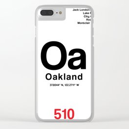 Oakland City Poster Clear iPhone Case