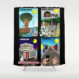 The Evolution of American Slavery (Collage) Shower Curtain