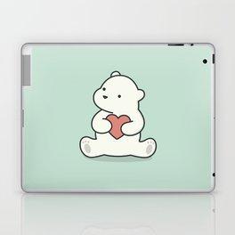 Kawaii Cute Polar Bear With Heart Laptop & iPad Skin