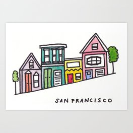 San Francisco Homes Art Print