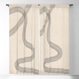 Minimal Abstract Art 19 Blackout Curtain