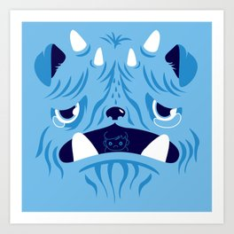 The Bluest Monster Ever :(( Art Print