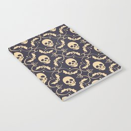 Happy halloween skull pattern Notebook