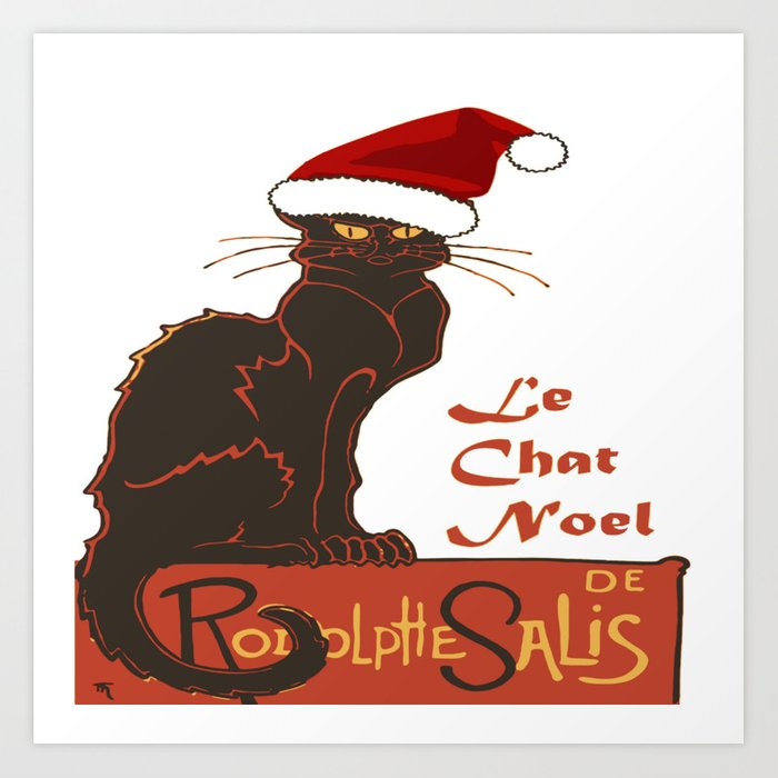 Chat Noel Image le chat noel christmas vector art printtaiche | society6