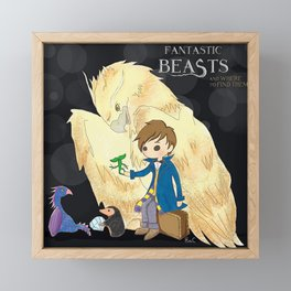 Fantastic beasts and where to find them. Framed Mini Art Print