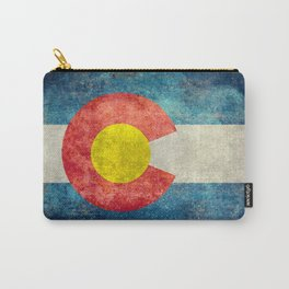 Colorado State flag - Vintage retro style Carry-All Pouch