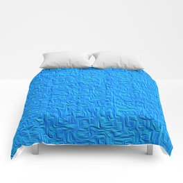 Souful Sky Blue Texture Abstract Comforters