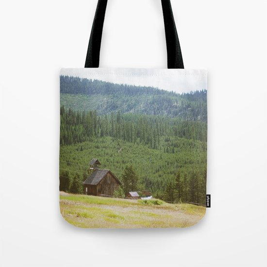 Forest Mountain Church Tote Bag