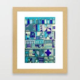 Edinburgh architectural motifs Framed Art Print
