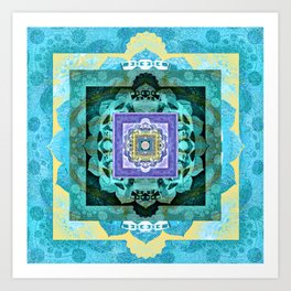 Soul Flow Color Therapy Sacred Geometry Meditation Print Art Print
