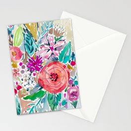 High by the Beach Painterly Floral Stationery Cards