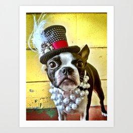 Steampunk Terrier Art Print