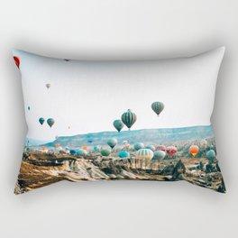 Hot Air Rises   Cappadocia, Turkey Rectangular Pillow