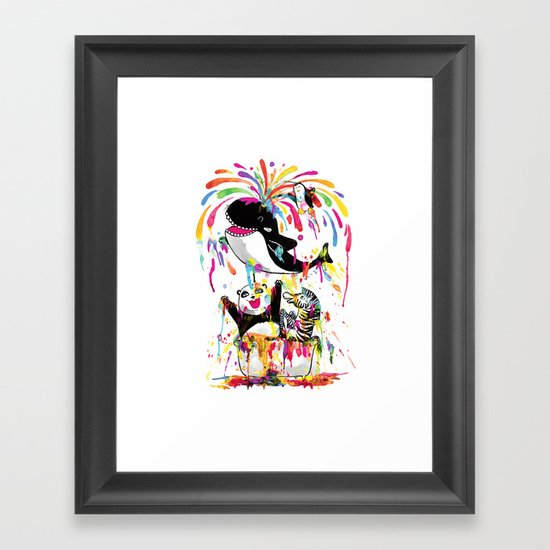 Yay! Bath Time! Framed Art Print