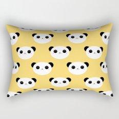 Happy Panda Face Pattern Rectangular Pillow